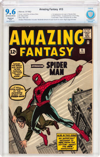 Amazing Fantasy #15 (Marvel, 1962) CBCS Restored NM+ 9.6 Slight Off-white to white pages