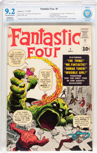 Fantastic Four #1 (Marvel, 1961) CBCS Restored NM- 9.2 Slight/ Moderate Off-white to white pages