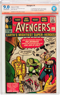 The Avengers #1 Verified Signature Series (Marvel, 1963) CBCS VF/NM 9.0 Off-white to white pages