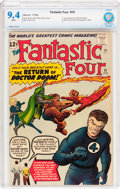 Silver Age (1956-1969):Superhero, Fantastic Four #10 (Marvel, 1963) CBCS NM 9.4 White pages....
