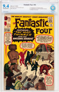 Silver Age (1956-1969):Superhero, Fantastic Four #15 (Marvel, 1963) CBCS NM 9.4 Off-white to white pages....