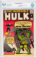 Silver Age (1956-1969):Superhero, The Incredible Hulk #6 (Marvel, 1963) CBCS VF+ 8.5 White pages....
