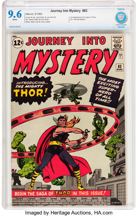 Journey Into Mystery #83 (Marvel, 1962) CBCS NM+ 9.6 White pages....