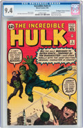 Silver Age (1956-1969):Superhero, The Incredible Hulk #3 Don/Maggie Thompson Collection pedigree (Marvel, 1962) CGC NM 9.4 Off-white to white pages....