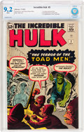 Silver Age (1956-1969):Superhero, The Incredible Hulk #2 (Marvel, 1962) CBCS NM- 9.2 White pages....