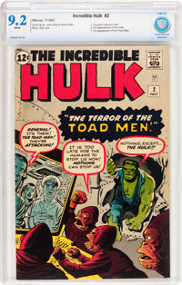 The Incredible Hulk #2 (Marvel, 1962) CBCS NM- 9.2 White pages