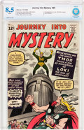 Silver Age (1956-1969):Superhero, Journey Into Mystery #85 (Marvel, 1962) CBCS VF+ 8.5 Whitepages....