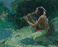 Paintings, Eanger Irving Couse (American, 1866-1936). The Call of the Flute, 1922. Oil on canvas. 24 x 29 inches (61.0 x 73.7 cm). ...