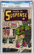 Silver Age (1956-1969):Science Fiction, Tales of Suspense #37 (Marvel, 1963) CGC NM- 9.2 Off-white to white pages....