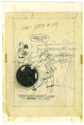 "Original Comic Art:Covers, Warren Kremer - Little Lotta #119 Cover Original Art (Harvey,1976). Lotta really has a ""ball"" at the bowling alley, in this...(Total: 2 Items)"