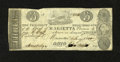 Obsoletes By State:Ohio, Marietta, OH- Bank of Marietta $3 Jan. 4, 1840 C34 Wolka 1559-23.Ink erosion is found on this scarce counterfeit. Fine....