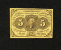 Fractional Currency:First Issue, Fr. 1230 5c First Issue About New. A center fold is found on this note....