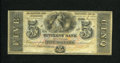 Obsoletes By State:Louisiana, New Orleans, LA- Citizens' Bank of Louisiana $5 18__ . This note is of the multi-colored bilingual $5 design on this bank.