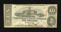 Confederate Notes:1863 Issues, T59 $10 1863. Even handling is noticed on this Fine $10....