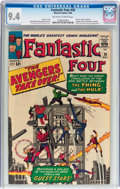 Silver Age (1956-1969):Superhero, Fantastic Four #26 (Marvel, 1964) CGC NM 9.4 Off-white to whitepages....