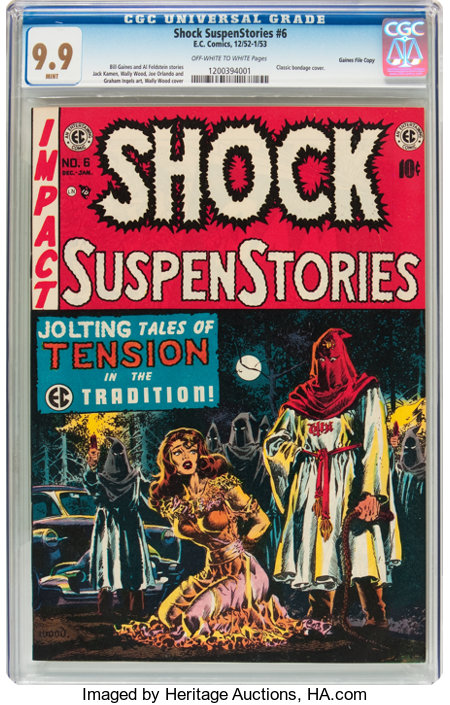 Shock SuspenStories #6 Gaines File pedigree 2/12 (EC, 1952) CGC MT 9.9 Off-white to white pages....