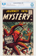 Silver Age (1956-1969):Horror, Journey Into Mystery #64 (Marvel, 1961) CBCS VF 8.0 White pages....