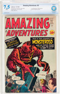 Silver Age (1956-1969):Horror, Amazing Adventures #5 (Marvel, 1961) CBCS VF- 7.5 White pages....
