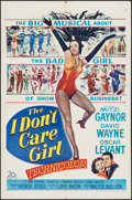 """Movie Posters:Musical, The I Don't Care Girl (20th Century Fox, 1953). One Sheet (27"""" X 41"""") and Lobby Card Set of 8 (11"""" X 14""""). Musical.. ... (Total: 9 Items)"""