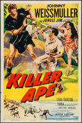 "Movie Posters:Adventure, Killer Ape (Columbia, 1953). One Sheet (27"" X 41"") and Lobby Cards(2) (11"" X 14""). Adventure.. ... (Total: 3 Items)"