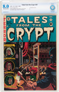 Golden Age (1938-1955):Horror, Tales From the Crypt #27 (EC, 1951) CBCS VF 8.0 Off-white to whitepages....