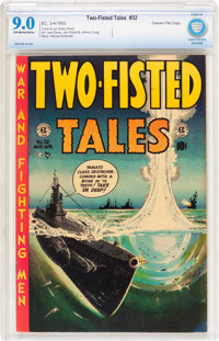 Two-Fisted Tales #32 Gaines File pedigree 6/9 (EC, 1953) CBCS VF/NM 9.0 Off-white to white pages