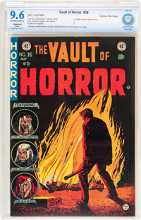 Vault of Horror #36 Gaines File pedigree 6/12 (EC, 1954) CBCS Restored NM+ 9.6 Slight (A) Off-white to white pages