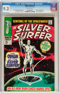 Silver Age (1956-1969):Superhero, The Silver Surfer #1 (Marvel, 1968) CGC NM- 9.2 Off-white pages....