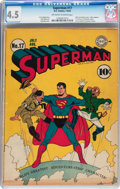 Golden Age (1938-1955):Superhero, Superman #17 (DC, 1942) CGC VG+ 4.5 Off-white to white pages....