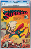 Golden Age (1938-1955):Superhero, Superman #8 (DC, 1941) CGC FN 6.0 Off-white to white pages....