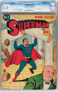 Golden Age (1938-1955):Superhero, Superman #4 (DC, 1940) CGC GD/VG 3.0 Cream to off-white pages....