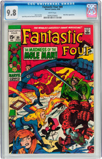 Fantastic Four #89 (Marvel, 1969) CGC NM/MT 9.8 White pages
