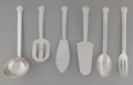 Silver Flatware, French, A Group of Fourteen Jean Puiforcat Annecy Pattern SilverFlatware Serving Pieces, Paris, France, designed 1930. ... (Total:14 Items)