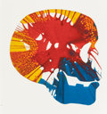 Post-War & Contemporary:Contemporary, Damien Hirst (British, b. 1965). Skull Spin Painting.Acrylic on paper. 13 x 13 inches (33.0 x 33.0 cm). Signed in inka...