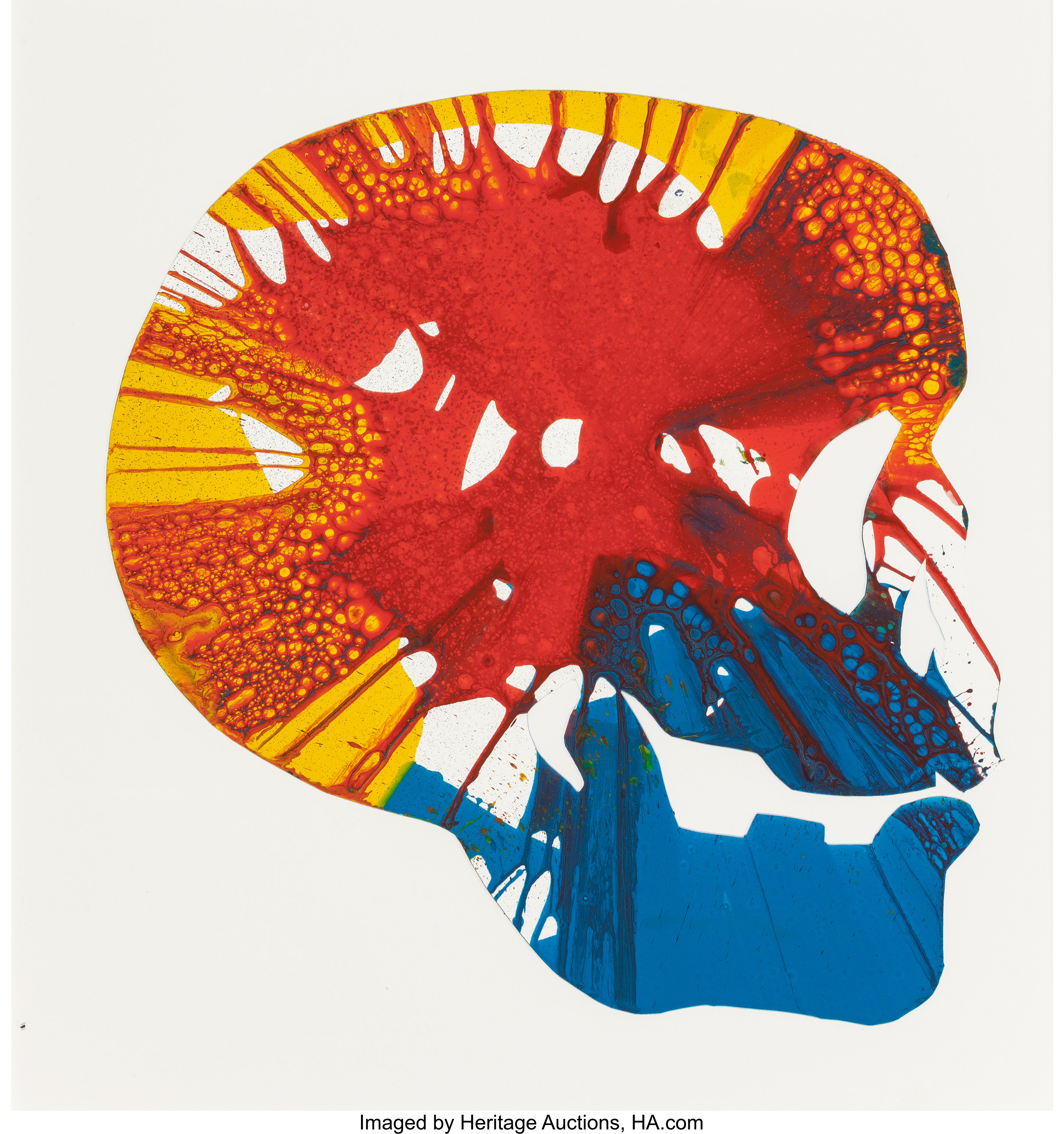 Damien Hirst British B 1965 Skull Spin Painting Acrylic On Lot 70087 Heritage Auctions