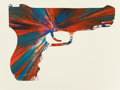 Post-War & Contemporary:Contemporary, Damien Hirst (British, b. 1965). Gun Spin Painting. Acrylicon paper. 13 x 18 inches (33.0 x 45.7 cm). Signed in ink and...