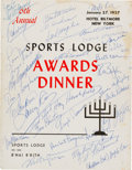 Baseball Collectibles:Programs, 1950's Awards Program Multi Signed with Roy Campanella....