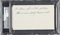 Baseball Collectibles:Others, 1970's Hilton Smith Signed Index Card....
