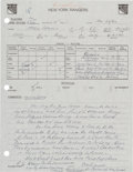Hockey Collectibles:Others, 1982 New York Rangers Scouting Report Evaluating Mario Lemieux. ...
