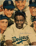 Baseball Collectibles:Photos, 1950's Collection of Magazine Signed Photographs with JackieRobinson. ...