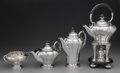Silver Holloware, Continental:Holloware, A Four Piece Georg Jensen Silver and Ebonized Wood Coffee Service,Copenhagen, Denmark, circa 1930. Marks: GEORG JENSEN, 9...(Total: 4 Items)