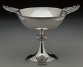 Silver & Vertu:Hollowware, A John Wendt Silver Footed Compote, circa 1862-1877. Marks: STARR & MARCUS, NEW YORK, ENGLISH STERLING, 346. 9-3/8 inche...
