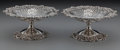 Silver & Vertu:Hollowware, A Pair of Graff, Washbourne & Dunn Silver Reticulated Compotes, New York, New York, circa 1930. Marks: (logotype), STERL... (Total: 2 )