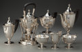Silver Holloware, American:Tea Sets, A Seven Piece Tiffany & Co. Silver and Ebony Tea and CoffeeService, New York, New York, circa 1907-1947. Marks: TIFFANY&... (Total: 7 Items)