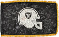 Football Collectibles:Others, Circa 1990 Oakland/Los Angeles Raiders Multi-Signed Flag....