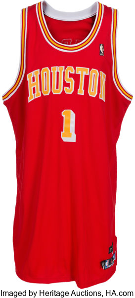 reputable site 7d8e9 96020 2004-05 Tracy McGrady Game Worn Houston Rockets Jersey ...
