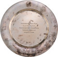 Baseball Collectibles:Others, 1958 Allie Reynolds Old Timers' Day Presentation Plate. ...