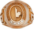 Hockey Collectibles:Others, 1981 Canada Cup Ring Presented to Steve Shutt....