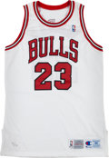 Basketball Collectibles:Uniforms, 1994 Michael Jordan Signed Chicago Bulls Retirement Jersey. ...