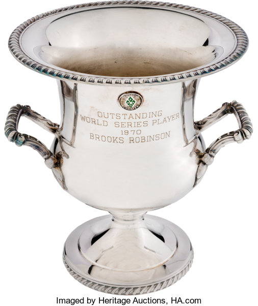 Baseball CollectiblesOthers 1970 World Series MVP Trophy From The Brooks RobinsonCollection